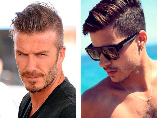 Мужская причёска с выбритыми висками и затылком