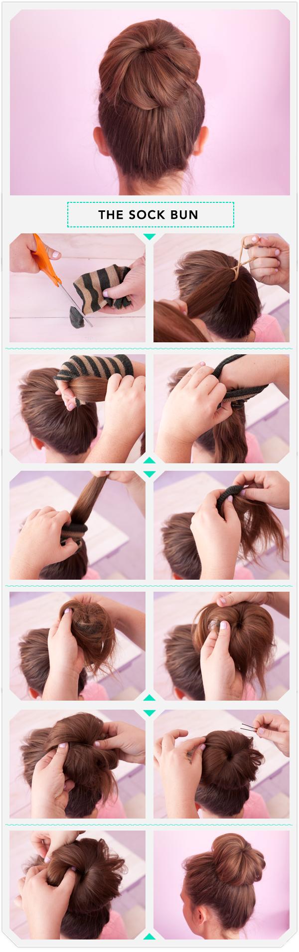 Как сделать для прически шишка