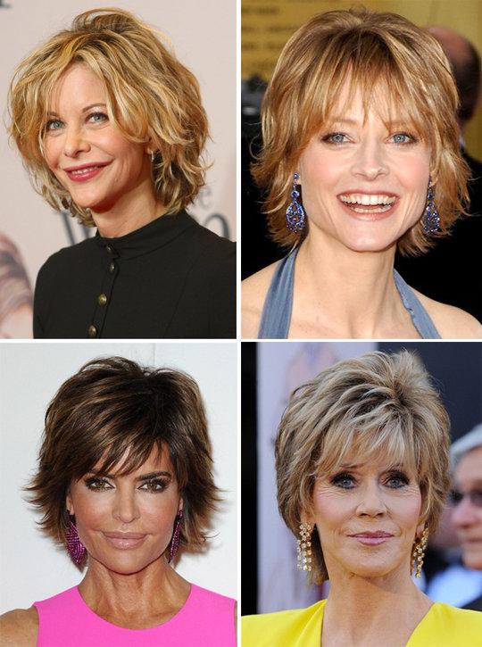 На средние волосы стрижка возраст 50 лет