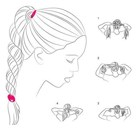 Схема плетения коса-жгут - карточка от пользователя amaryllis19 в Яндекс.Коллекциях