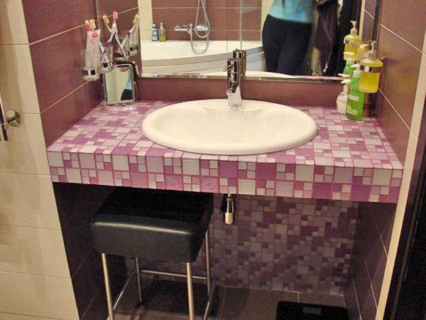 Стол под умывальник в ванную своими руками 15
