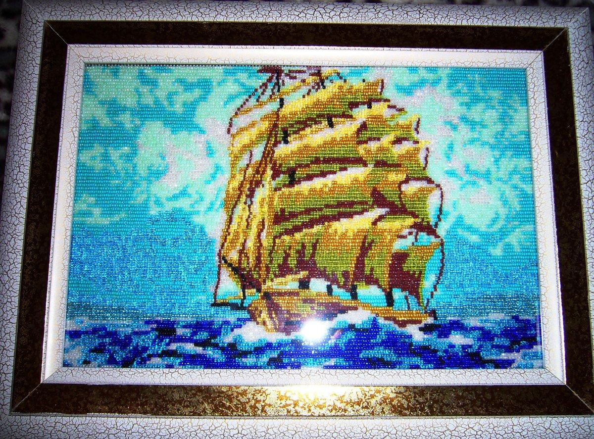 Корабли из бисера фото