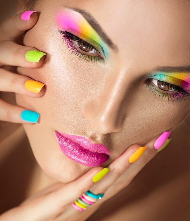 Яркий и клевый макияж