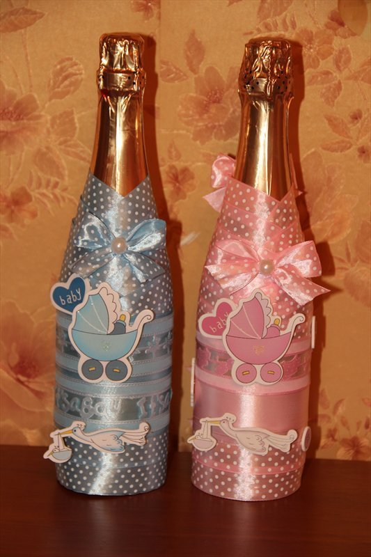 Как украсить шампанское своими руками мастер класс фото