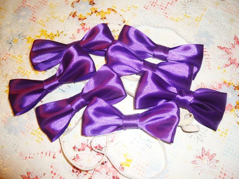 Бабочки галстуки из атласной ленты своими руками
