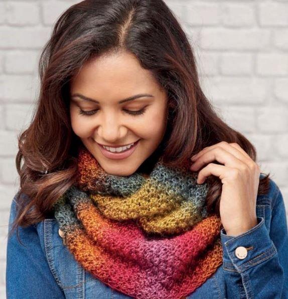 Вязание шарфов и восьмерок 5