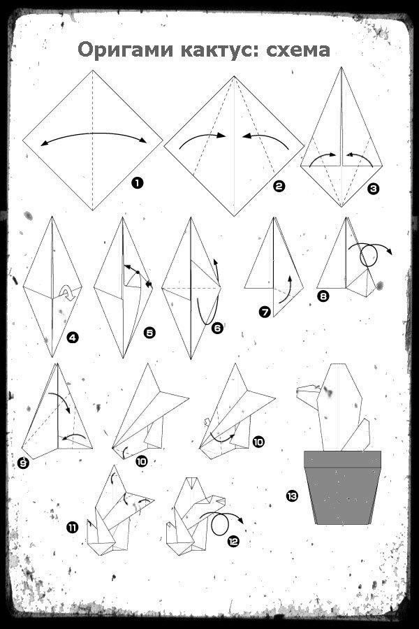 Модульная оригами из бумаги схемы для