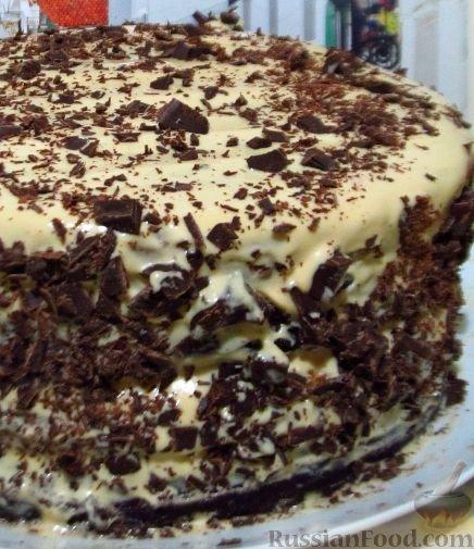 На детский праздник приготовила большой четырехъярусный торт. Праздничный торт получился очень вкусным. Коржи готовятся довольно