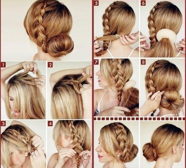Причёски с косами на средние волосы в домашних условиях пошагово
