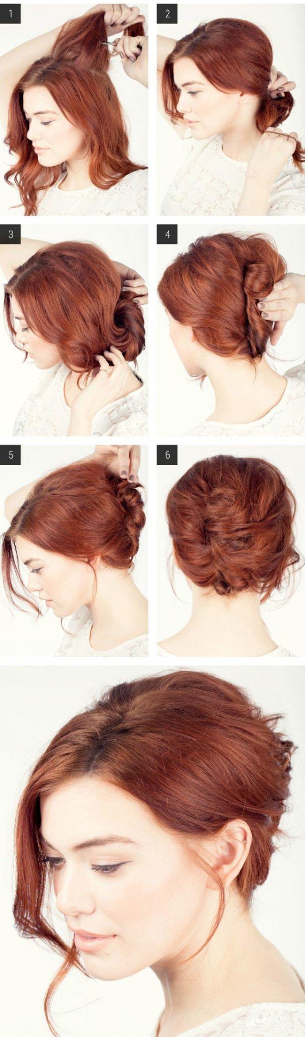 Как сделать причёску ракушка себе