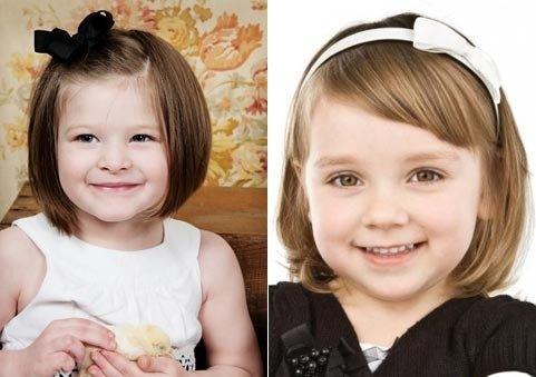 Причёски для девочек 1 лет