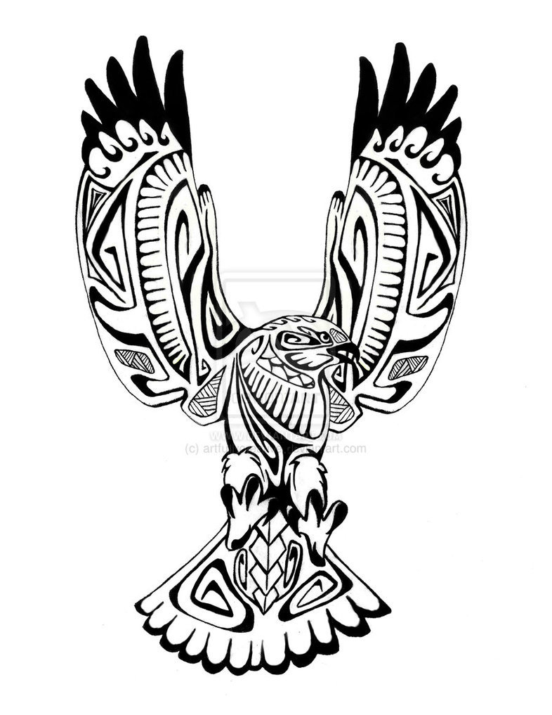 Эскиз тату орла на руке