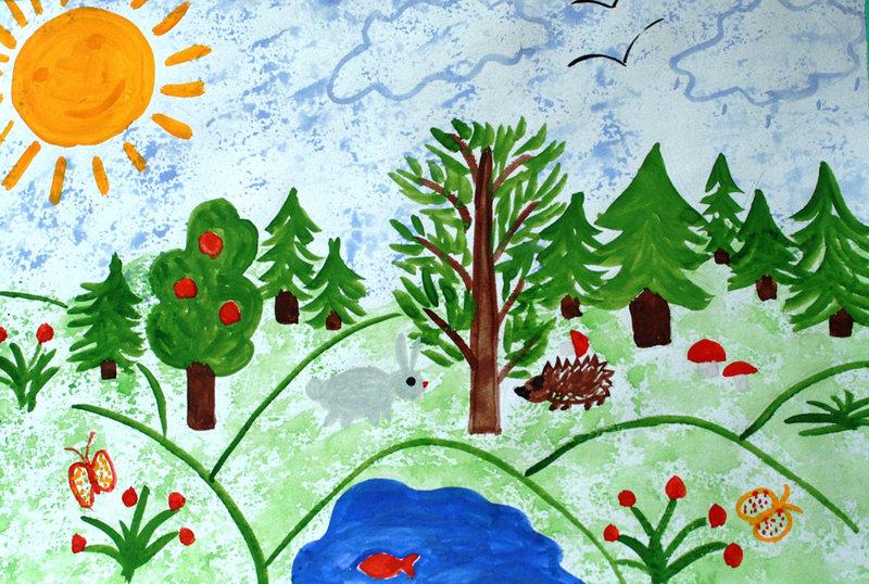 Конкурс детского рисунка про природу