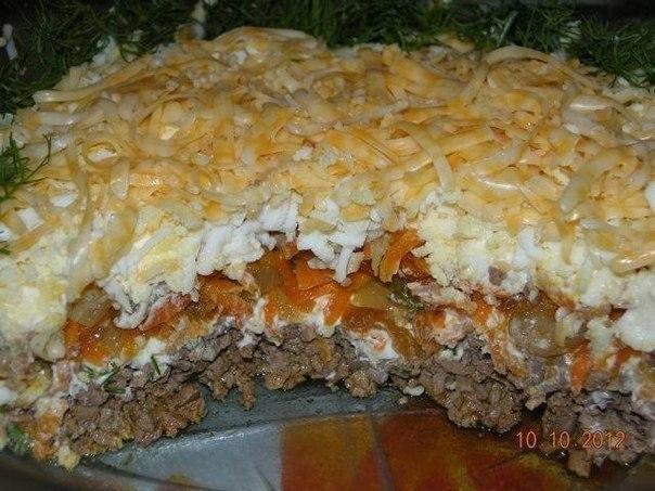 Салат из куриной печени с фото пошагово