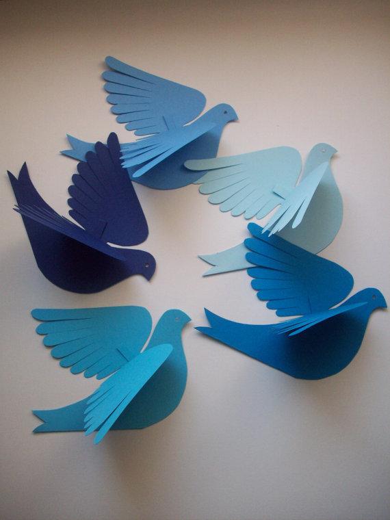 Объёмные птицы своими руками 49