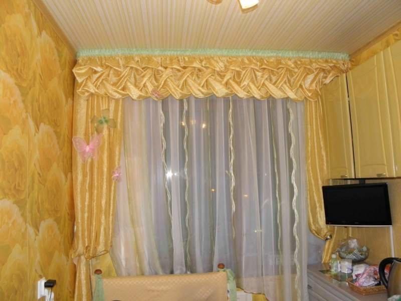 Как сделать шторы в зале своими руками