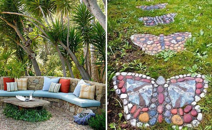 Декор из камня в саду своими руками 4
