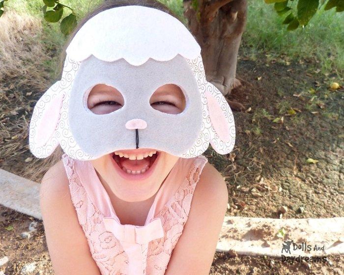 Новогодняя маска овечка своими руками