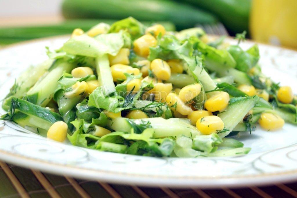 Салат с курицей кукурузой и огурцом рецепт с кукурузой