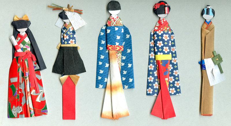 Японские бумажные куклы своими руками