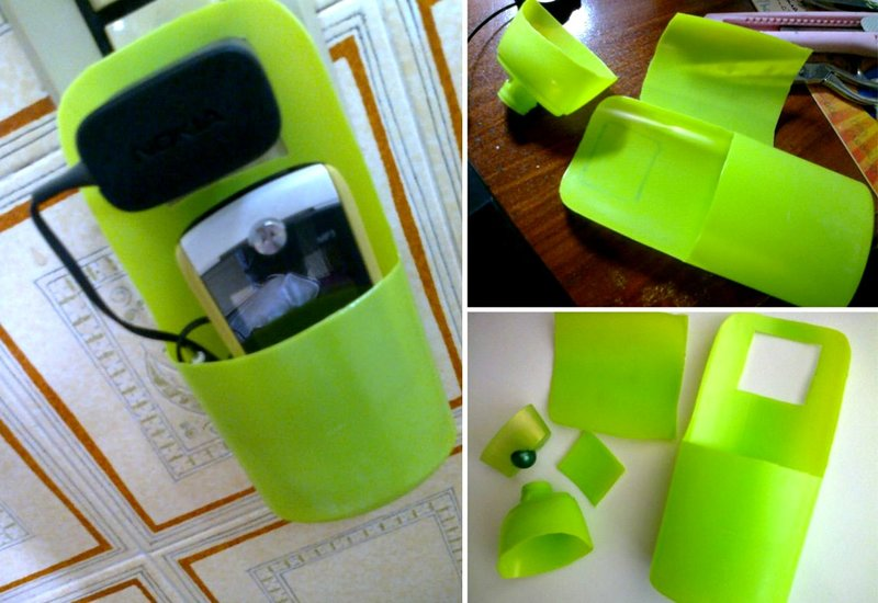 Как сделать из пластиковой бутылки телефон