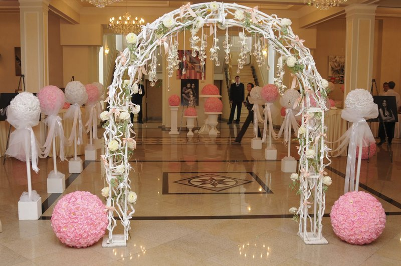 Оформление арки на свадьбу своими руками фото