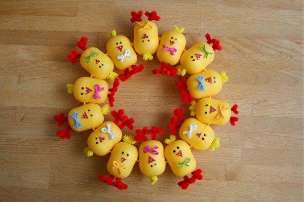 Поделки из яиц киндер для детей
