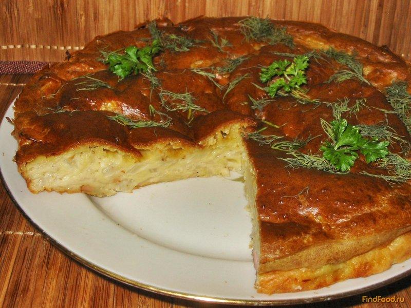 Пирог с рыбой и капустой на кефире рецепт
