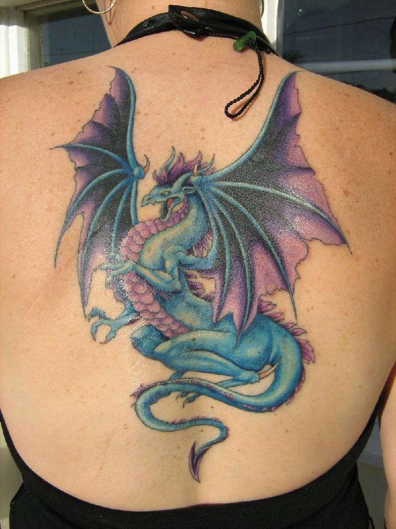 Фото тату драконов женские