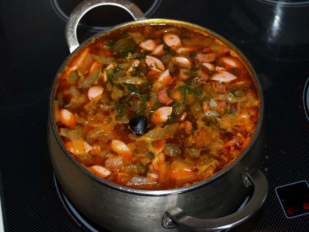 Рецепт солянки колбасой мясом пошаговый