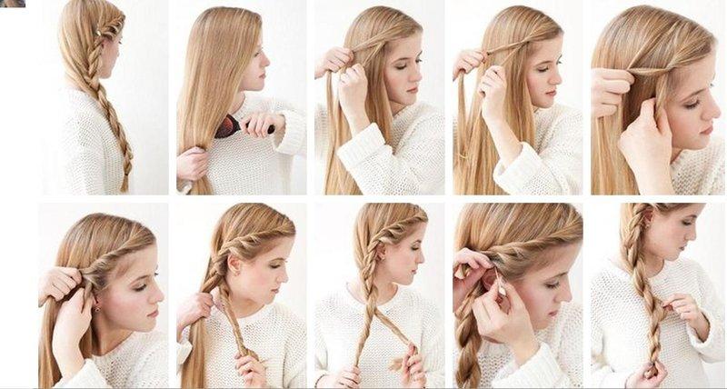 Как сделать легкую прическу самой себе не на длинные волосы
