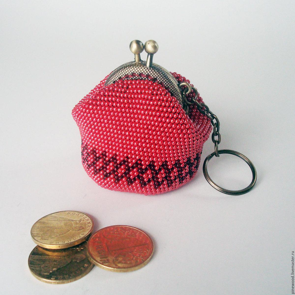 Мастер класс по вязанию монетницы из бисера
