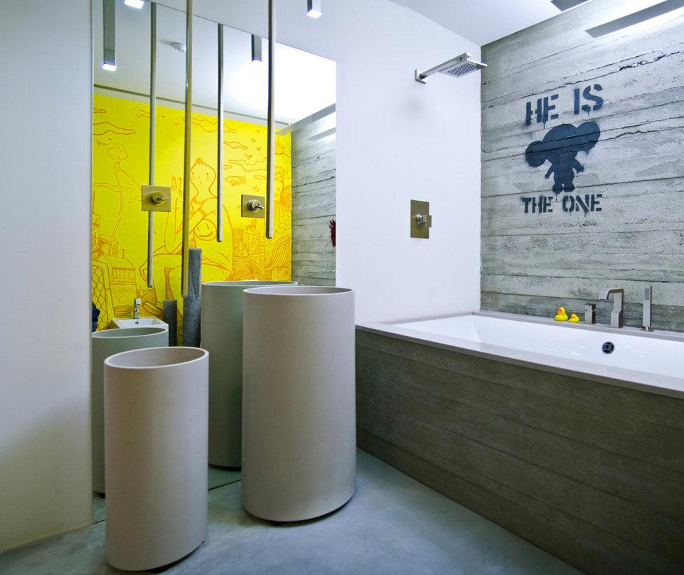 Дизайн ванных комнатграфии современный