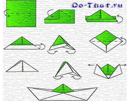 Как сделать из бумаги кораблик что он  103