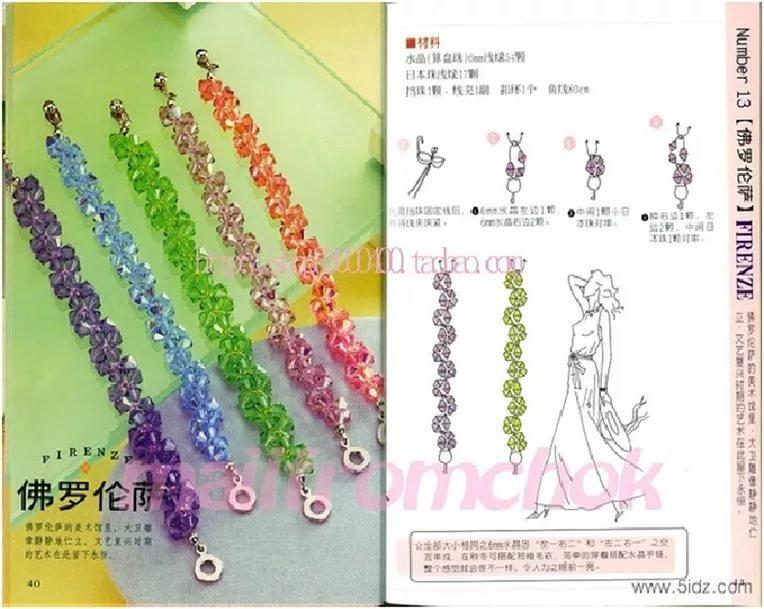 Фото и схемы браслетов из бисера