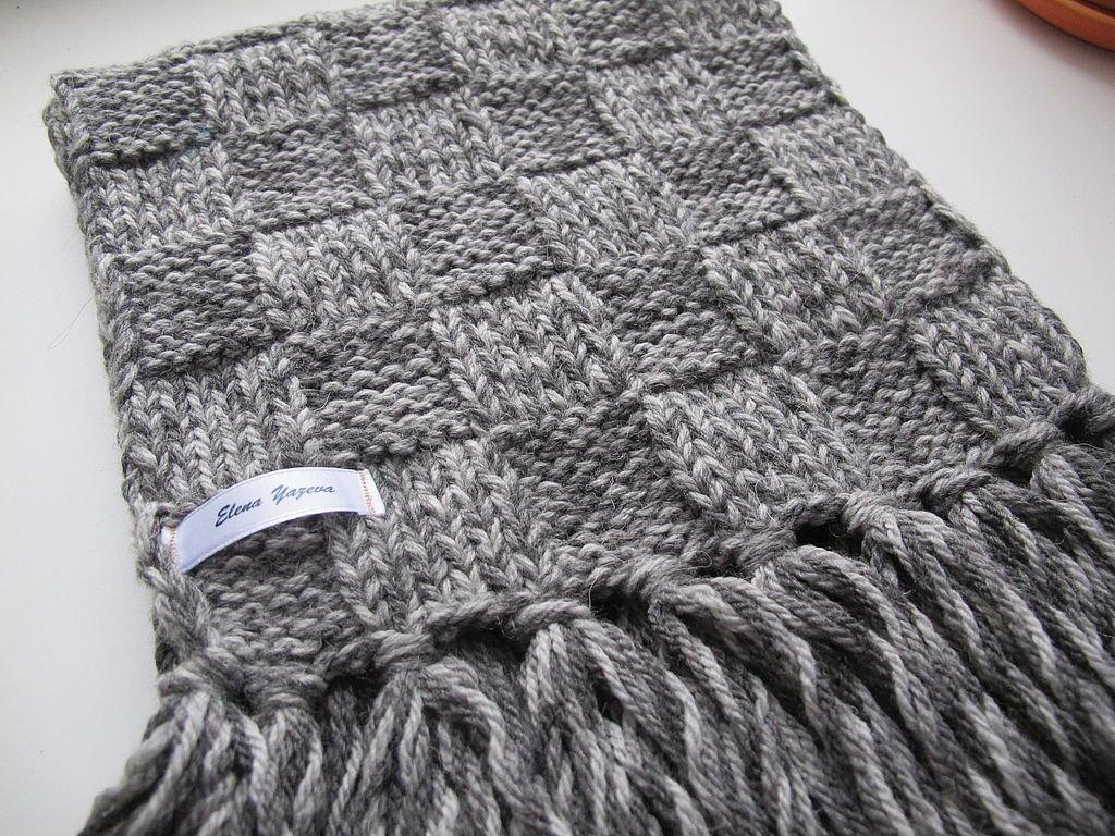 Вязание крючкоммужские шарфы 66