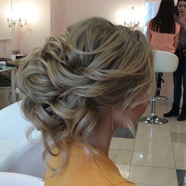 Свадебные прически на мелированные волосы средней длины
