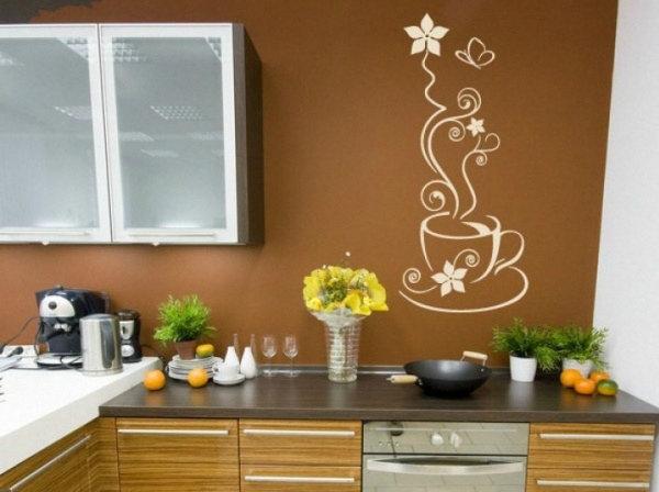 Узор на кухне на стене фото