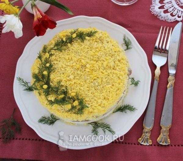 Мимоза с сыром рецепт пошаговый рецепт с фото