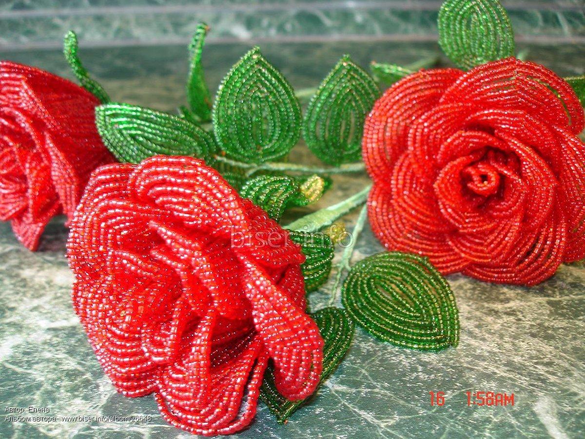 Роза из стекляруса мастер класс с пошаговым фото