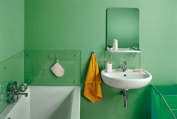 Покраска в ванной комнате в ванной своими руками 89