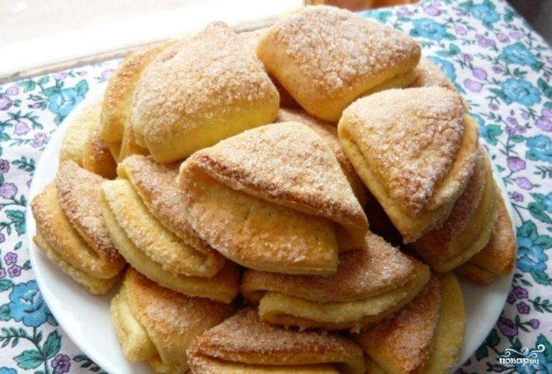 Печенье творожные конвертики рецепт пошагово