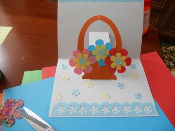 Сделать объемную открытку для мамы 770