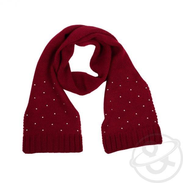 Красный шарф своими руками