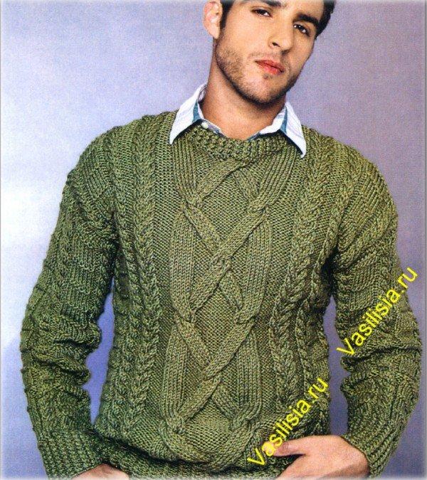 Узоры к мужскому свитеру