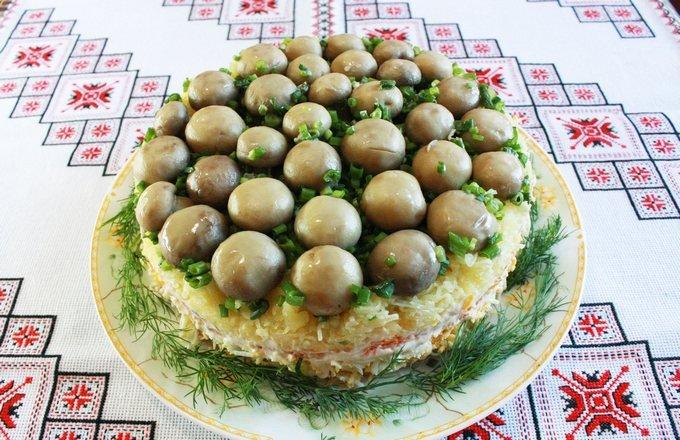 Салат грибная поляна вкусные рецепты
