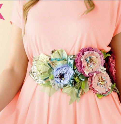 Красивые цветы на платье своими руками 39