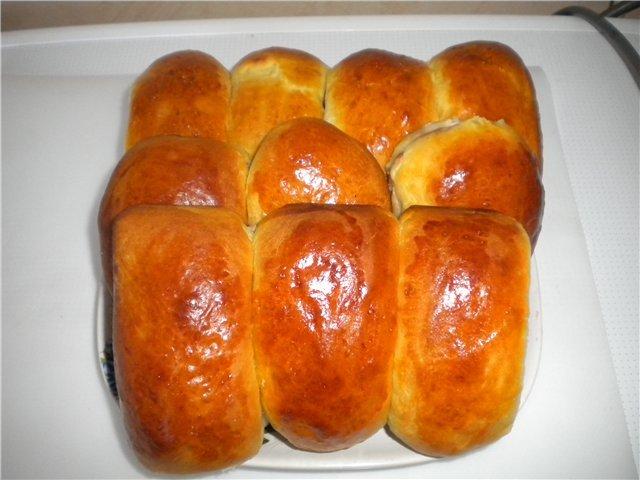 56Рецепт дрожжевых пирожков с вишней в духовке