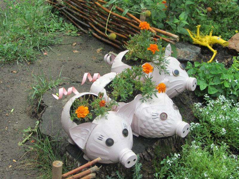 Декоры своими руками в саду 841