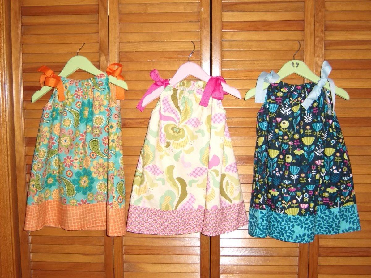 Летний наряд для девочки сшитый своими руками